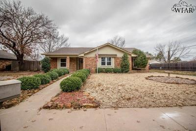 Wichita Falls Single Family Home Active W/Option Contract: 4802 Dickens Street