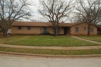 Wichita Falls Single Family Home For Sale: 4501 Kenwood Street