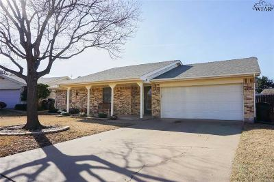 Wichita Falls Single Family Home Active W/Option Contract: 1713 Cliffside Drive