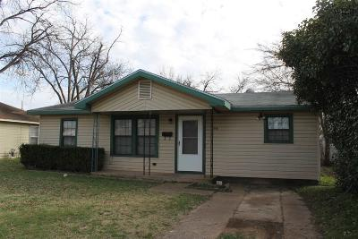 Wichita Falls Single Family Home Active W/Option Contract: 2945 Lavell Avenue