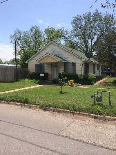 Burkburnett TX Single Family Home For Sale: $52,500