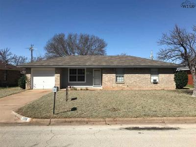 Wichita Falls Single Family Home Active W/Option Contract: 1216 Santa Barbara Drive