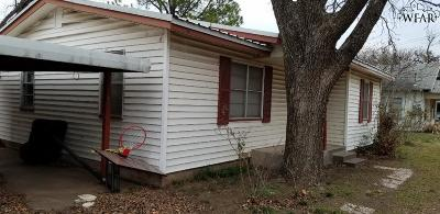 Burkburnett TX Single Family Home For Sale: $39,900