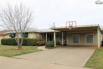 Wichita Falls TX Single Family Home For Sale: $126,500