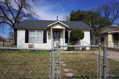 Wichita Falls Single Family Home For Sale: 802 Marconi Street