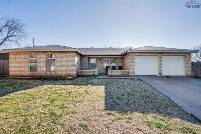 Wichita Falls Single Family Home Active W/Option Contract: 4 March Drive