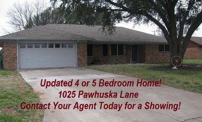 Burkburnett TX Single Family Home For Sale: $212,000