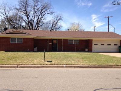 Burkburnett Single Family Home Active W/Option Contract: 800 Aztec Drive