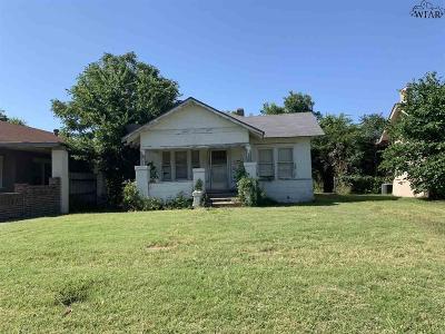 Wichita Falls Single Family Home For Sale: 2007 Fillmore Street