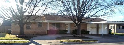 Burkburnett Single Family Home Active W/Option Contract: 806 Preston Road
