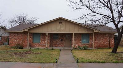 Wichita Falls Single Family Home Active W/Option Contract: 4503 Westridge Drive