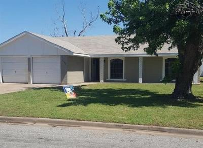 Burkburnett TX Single Family Home For Sale: $130,000