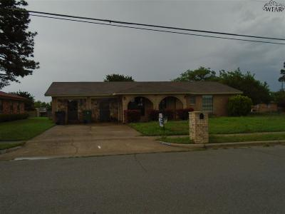 Wichita Falls Single Family Home Active W/Option Contract: 2302 Reilly Road