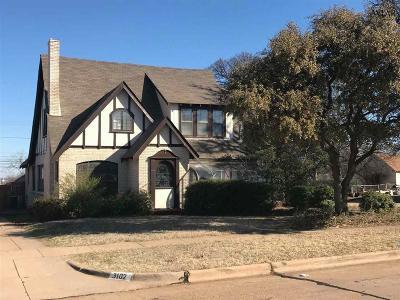 Wichita Falls Single Family Home For Sale: 3100 10th Street