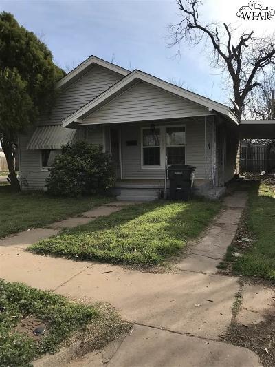 Wichita Falls Single Family Home For Sale: 1901 Britain Street