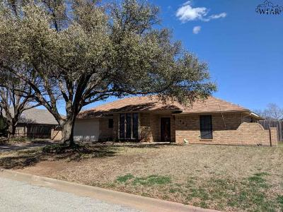 Burkburnett TX Single Family Home For Sale: $159,900