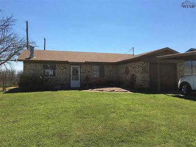 Archer County, Baylor County, Clay County, Jack County, Throckmorton County, Wichita County, Wise County Single Family Home For Sale: 411 Valley Drive