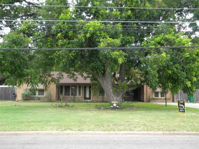 Burkburnett TX Single Family Home Active W/Option Contract: $119,900