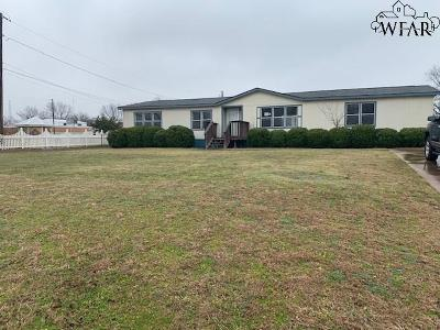 Burkburnett TX Single Family Home For Sale: $59,400