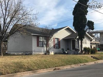 Wichita Falls TX Single Family Home For Sale: $49,900