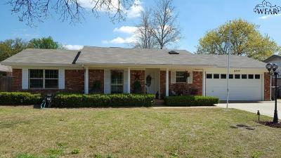 Wichita Falls Single Family Home Active W/Option Contract: 4207 Seymour Road