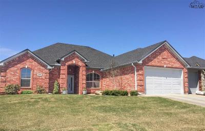 Wichita Falls Single Family Home Active W/Option Contract: 1740 Rockridge Drive
