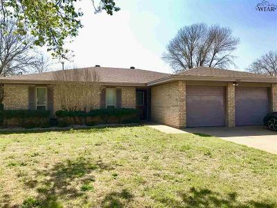 Wichita Falls Single Family Home Active W/Option Contract: 5210 Brookwood Drive