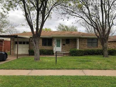 Wichita Falls Single Family Home Active W/Option Contract: 4667 Briarwood Drive