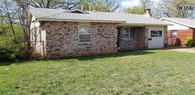 Wichita Falls Single Family Home Active W/Option Contract: 4115 Wrangler Drive