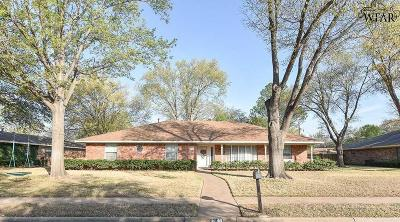 Wichita Falls Single Family Home Active W/Option Contract: 4514 Barbados Drive