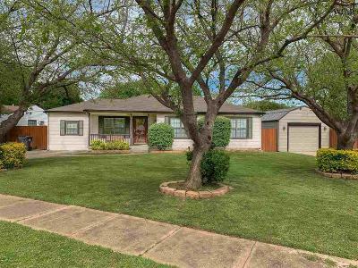 Wichita Falls TX Single Family Home Active W/Option Contract: $108,000