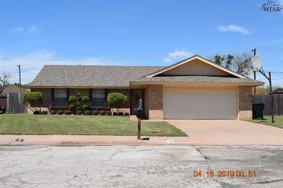 Wichita Falls TX Single Family Home Active W/Option Contract: $154,900
