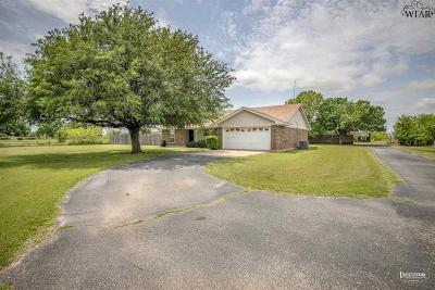 Wichita Falls Single Family Home For Sale: 10506 Fm 2393