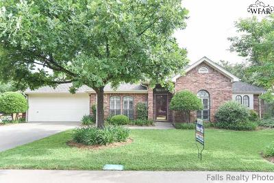 Wichita Falls Single Family Home Active W/Option Contract: 4508 Wendover Street