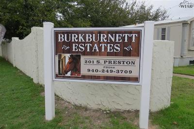 Burkburnett Single Family Home For Sale: 201 S Preston Road