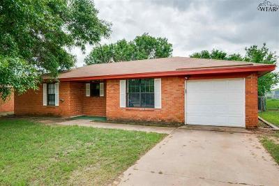 Wichita Falls Single Family Home Active W/Option Contract: 1231 Glendora Drive