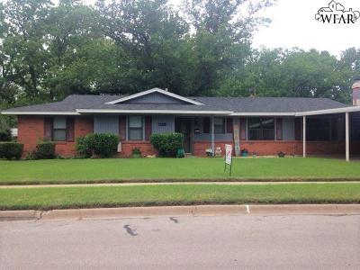 Burkburnett Single Family Home Active W/Option Contract: 806 Mimosa Street