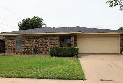 Wichita Falls Single Family Home Active W/Option Contract: 5320 Pebblestone Drive
