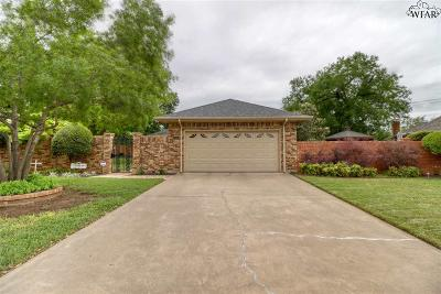 Wichita Falls Single Family Home Active W/Option Contract: 3416 Nottinghill Lane