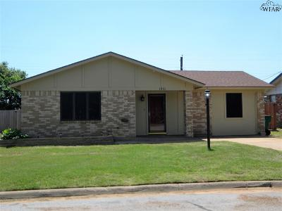 Burkburnett TX Single Family Home Active W/Option Contract: $114,900