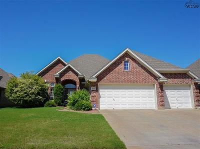 Wichita Falls TX Single Family Home Active W/Option Contract: $259,900