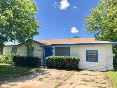 Wichita Falls TX Single Family Home Active W/Option Contract: $72,500