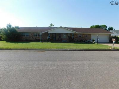 Burkburnett Single Family Home Active-Contingency: 1005 Pawhuska Lane