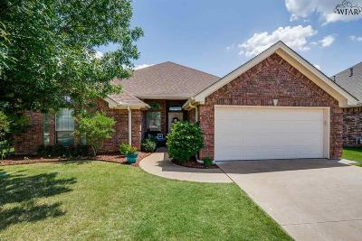 Wichita Falls Single Family Home Active W/Option Contract: 5421 Prairie Lace Lane