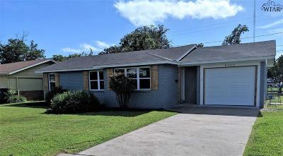Wichita Falls TX Single Family Home For Sale: $103,000