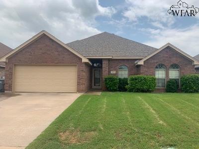 Wichita Falls Single Family Home Active W/Option Contract: 5623 Ross Creek Lane
