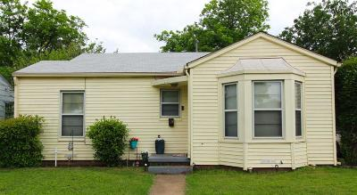 Wichita Falls TX Single Family Home Active W/Option Contract: $49,900