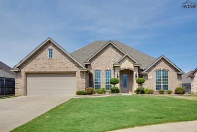 Wichita Falls Single Family Home Active W/Option Contract: 7 Sun Stone Court