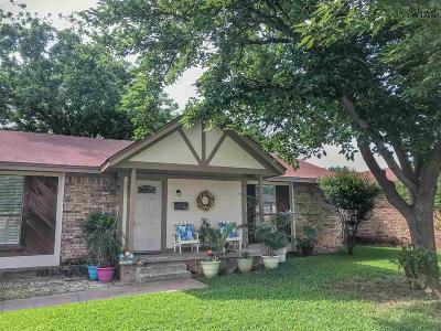 Wichita Falls Single Family Home Active W/Option Contract: 4651 Briarwood Drive