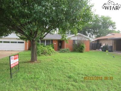 Wichita Falls Single Family Home For Sale: 1606 Southwest Parkway
